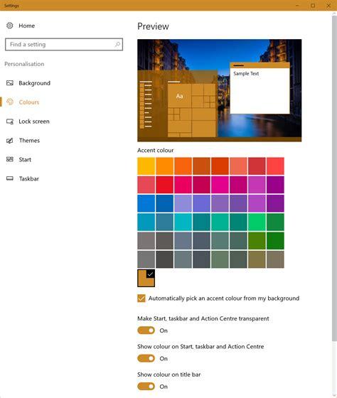 colors   change  windows  automatic accent