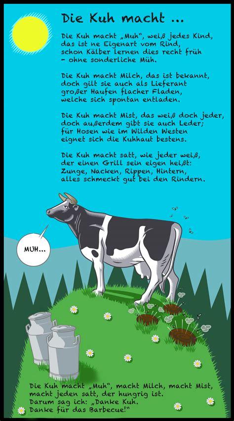 bumsen im garten kuh illustration miguelez reimix