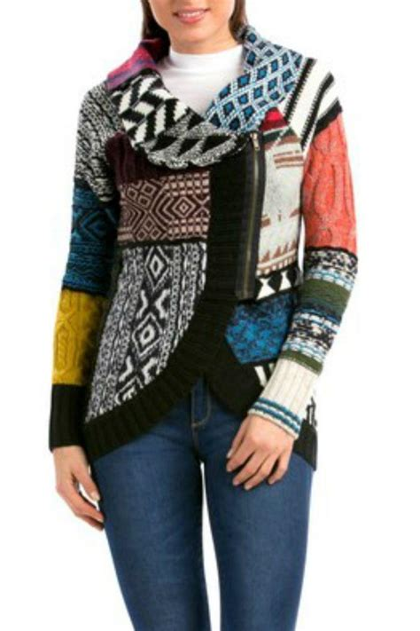 Patchwork Sweater - desigual diana patchwork sweater from hawaii by hurricane