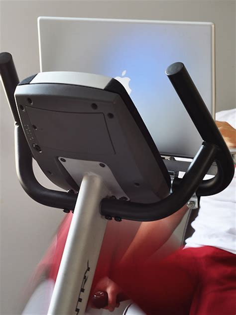 exercise bike with laptop macbook laptop mounted to an exercise bike texnoworship