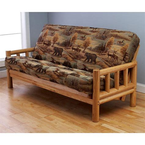 futon full size lodge complete full size futon set 636 50 furniture