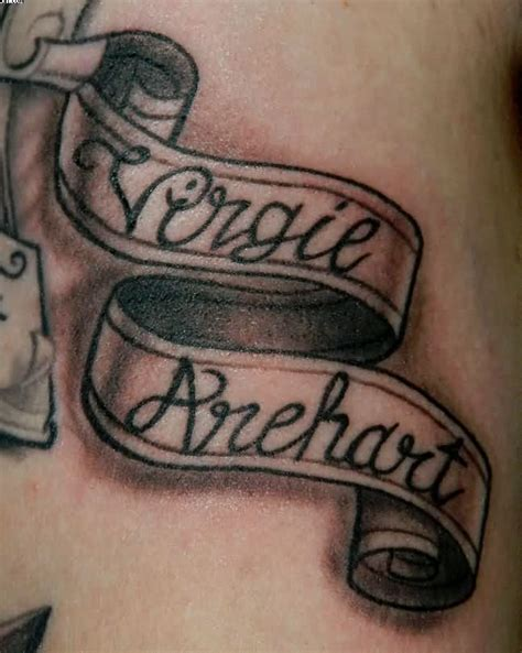 tattoo name banners banner tattoos tattoo ideas and design