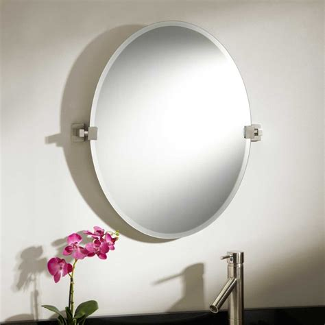 Modern Oval Bathroom Mirrors 24 Quot Helsinki Oval Tilting Mirror Modern Bathroom Mirrors