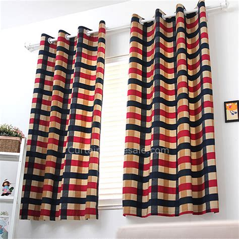 blue red curtains cotton blue and red plaid next bedroom curtains