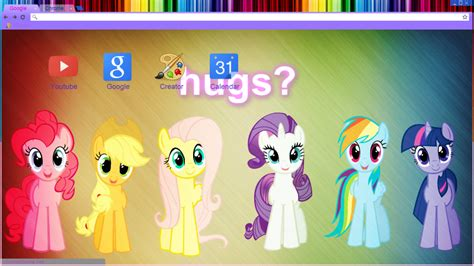 Theme Google Chrome My Little Pony | my little pony hugs google chrome theme by draw2134 on