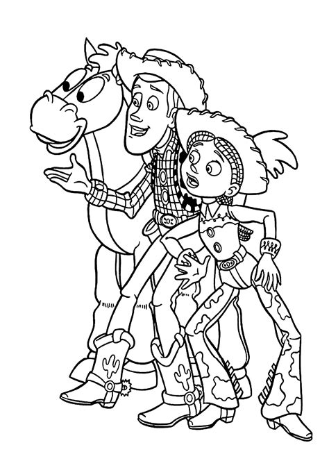 printable coloring pages toy story free cowboys character from toy story coloring pages for