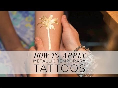 how to apply temporary tattoos metallic tattoos from shop