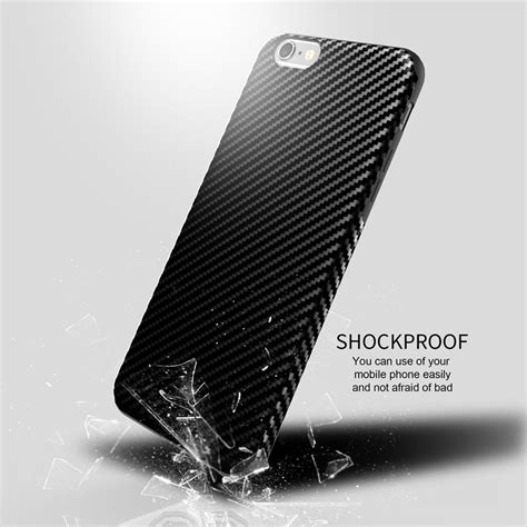 Softcase Remax For Iphone 7 anti knock carbon fiber softcase protector for iphone 7