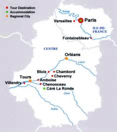 Tours France Map by French Castles Tour