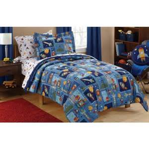 mainstays space bed in a bag bedding set walmart
