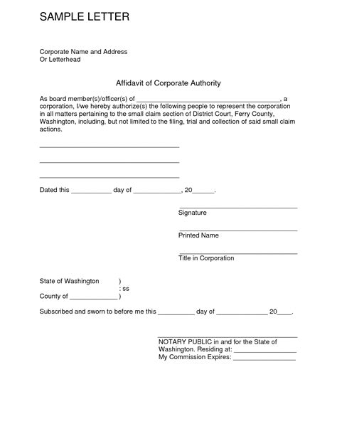 Affidavit Of Support Letter From Employer Sle Affidavit Of Support Letter The Best Letter Sle