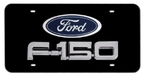 Ford Vanity Plates by Ford Emblem F 150 Chrome Name 3d Black License Plate