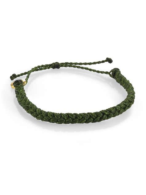 pura vida braided bracelet in green lyst