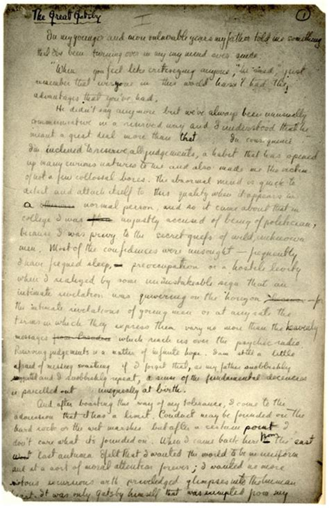 analysis of the great gatsby last page fitzgerald s early great gatsby manuscript influenced new