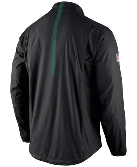 Jaket Zipper Nike Logo lyst nike s philadelphia eagles lockdown half zip jacket in black for