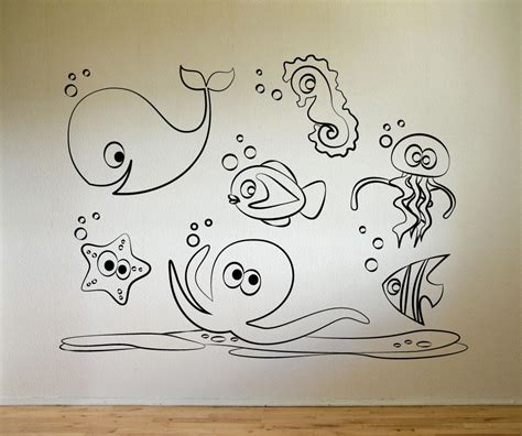 doodle on wall vinyl wall decal sticker sea doodle friends os mg160