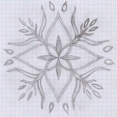 How To Make Design Paper - simple flower design draw on paper how to draw a flower on