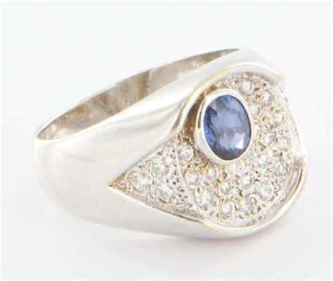 Kaos Juragan Gold Silver Mengkilat Bling Bling vintage 14k white gold mens sapphire signet ring estate