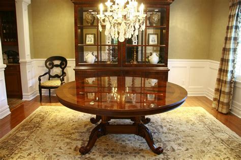 72 round dining room table 72 quot high end round mahogany dining table with duncan phyfe