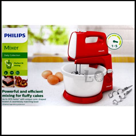 Mixer Philips Di Ace Hardware jual stand mixer philips hr 1559 10 bowl merah