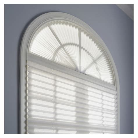 light blocking arch window shade redi shade light filtering cordless pleated arch shade