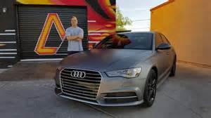 Audi A6 Matte 2016 Audi A6 1 Matte Grey Vinyl Wrap 2 Matte