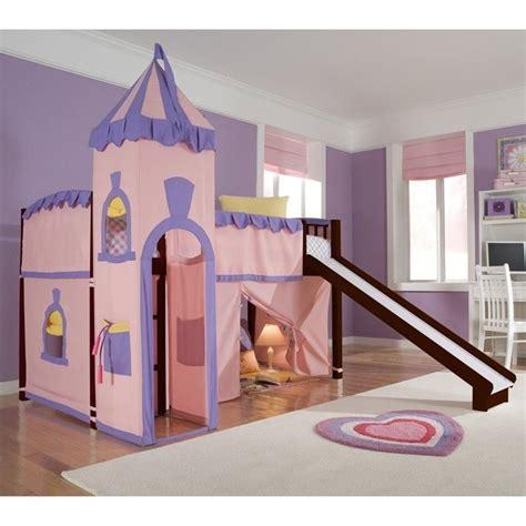 princess loft bed ne kids school house princess loft bed in cherry 4060npr