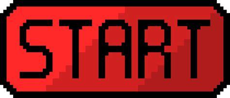 art startup start button red pixel art maker