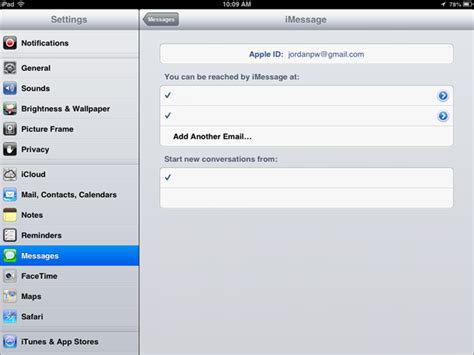 change layout email ipad ipad basics how to change the email address for messages
