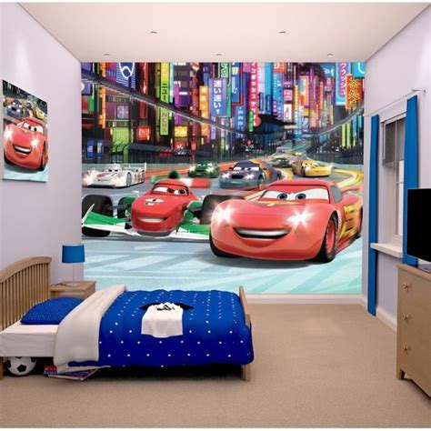 chambre mcqueen cars papier peint enfant fresque murale d 233 corative flash