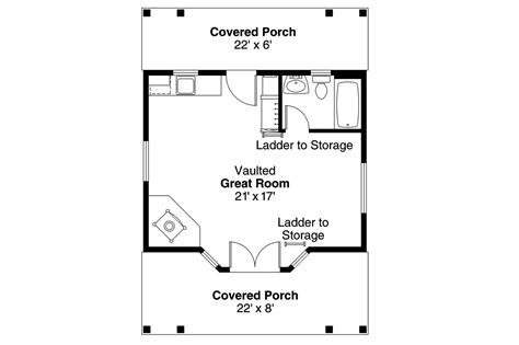 Guest Cottage Floor Plans by Cottage House Plans Guest Cottage 30 727 Associated