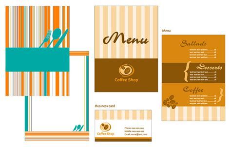 restaurant menu powerpoint template restaurant menu card template vector graphic