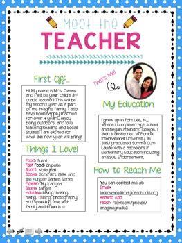 meet  teacher letter   grade corner tpt