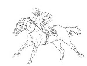 Racehorse Lineart By Seesincolour sketch template