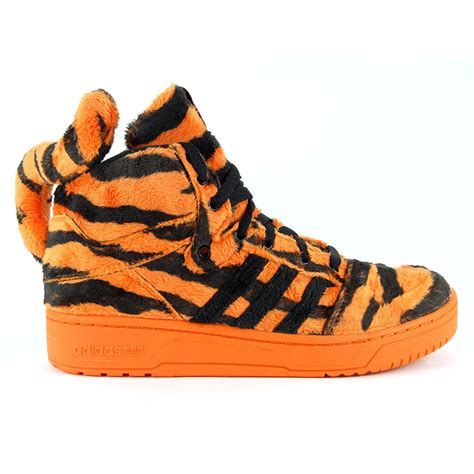 adidas originals jeremy scott tiger orangeblack shoes   ebay