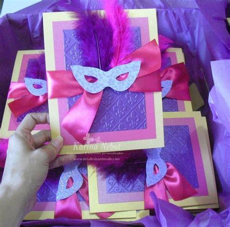 Handmade Masquerade Invitations - masquerade invitations in with craft