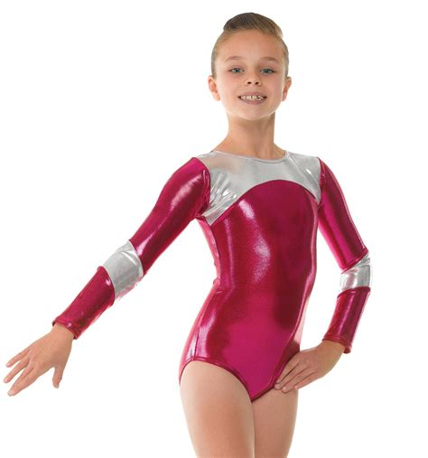 shine sleeve gymnastic leotard dancewear universe