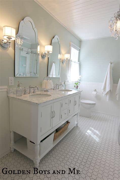 Pvc Beadboard For Bathroom Walls Golden Boys And Me Master Bathroom Pedestal Tub White
