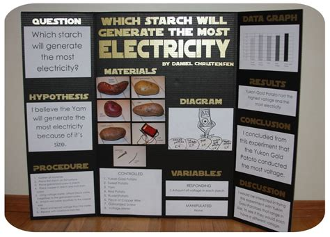 Potato Science Project For Kids Put Together His Science Fair Display Board Ideas