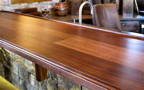 bar top edge custom wood countertop options edge profiles