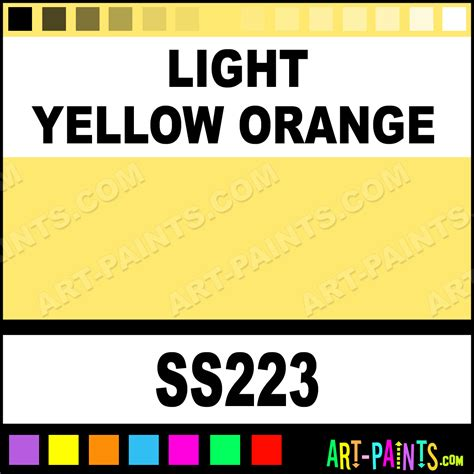 light yellow orange softees ceramic porcelain paints ss223 light yellow orange paint light