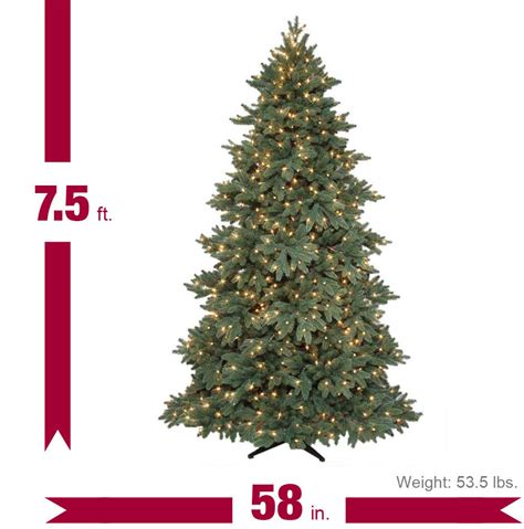 7 5 ft bristol spruce quick set artificial christmas tree