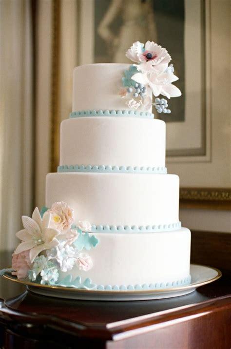 Vintage Inspired Wedding Cake Tiffany Blue Trim   FrouFrou