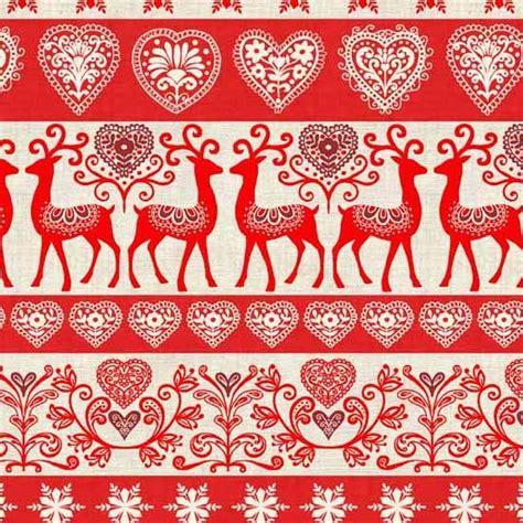 christmas pattern fabric uk scandi 3 christmas holiday nordic design makower uk fabric