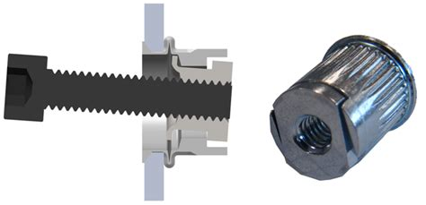 Blind Threaded Inserts Riv Nuts For Off Center Applications Bolt Products Inc