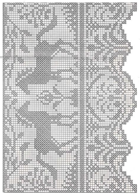 bordi per tende all uncinetto tende a filet p 225 2 animali su schemi croch 234