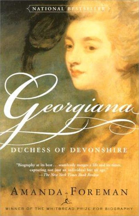 the duchess a novel georgiana duchess of devonshire by amanda foreman