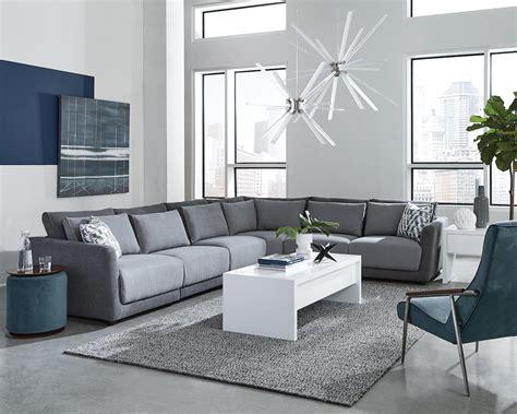 seanna grey chenille modular sectional sofa kfrooms