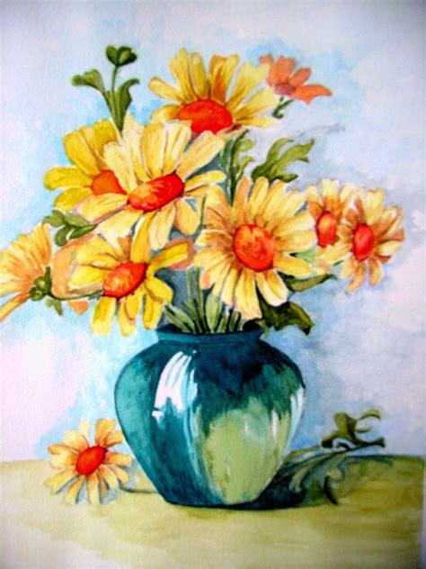 vasi di fiori dipinti dipinti dipingendo part 2