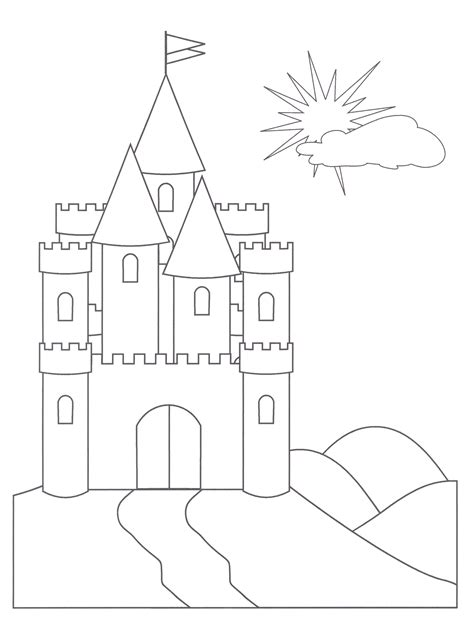castle template free printable castle coloring pages for